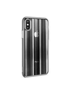 Чехол-накладка Apple iPhone X Baseus Aurora Transparent Black BASEUS