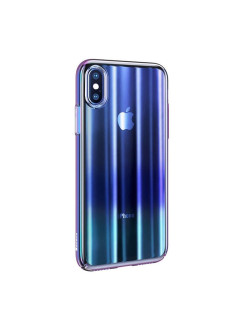 Чехол-накладка Apple iPhone XS Max Baseus Aurora Transparent Blue BASEUS