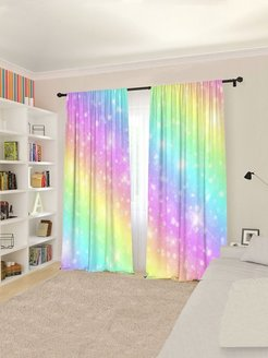 Interior curtains, curtains on the curtain tape Сирень