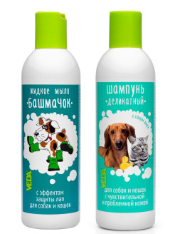 Pet shampoo, for dogs, for cats, 440 ml VEDA