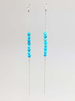 Серьги Miniature Turquoise Chain Alerie-Accessories