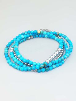 Комплект браслетов Miniature Turquoise Alerie-Accessories