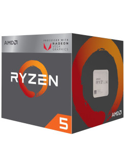 Процессор Ryzen 5 3400G, 3.7ГГц, 4-ядерный, L3 4Мб, AM4, BOX AMD.