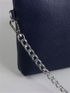 Bag chain silver 120 cm, 9x14mm Gleba