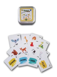 Игра на английском Smart cards. Wild animals Lingua Games