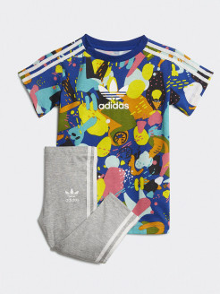 Костюм SHORT SET           WHITE/MULTCO adidas