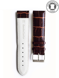 Calf leather watch strap 22 mm D&A.