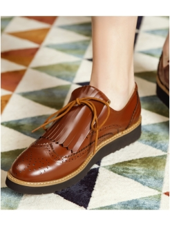 Лоферы BROWN LISBON RABBIT LOAFERS