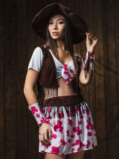 Costume Girl - Cowboy La Mascarade