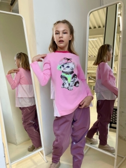 Tunic for girls from footer and shirts Nota Bene
