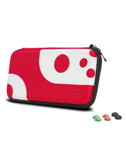 Nintendo Switch Set: Case and Cover for Switch Console (black-red) (SL-330200-BKRD) Speedlink