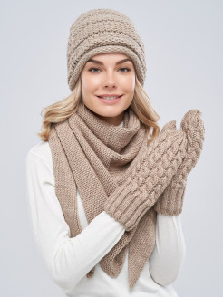 Mittens, without elements, insulated, knitted FARGO