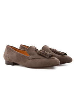 Слиперы BROWN TEXAS RABBIT LOAFERS