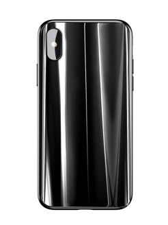 Чехол Baseus Glass Sparkling Case for iPhone X Black BASEUS