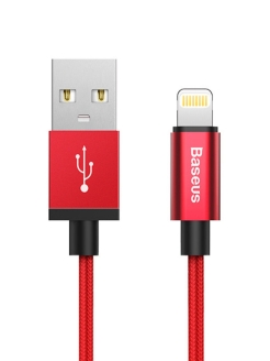 Кабель для iPod, iPhone, iPad Baseus Simple Version of AntiLa Series MFI Cable 1m Red BASEUS