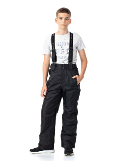 Winter semi-overalls from a membrane fabric with removable straps ALPEX