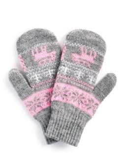Mittens, embroidery, knitted Baon