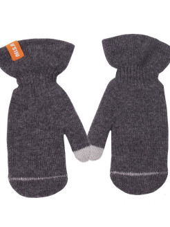 Mittens, logo, without elements, reflective inserts, insulated, knitted NELS
