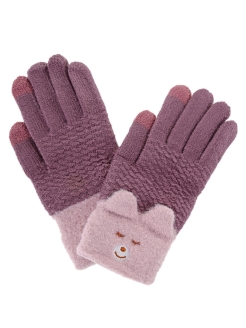 Gloves demi-season knitted female (warmed) 1Azaliya
