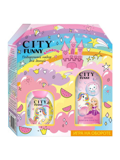 Набор City Funny Rainbow ДВ 30 мл + шампунь-пена 2в1  150 мл CITY PARFUM