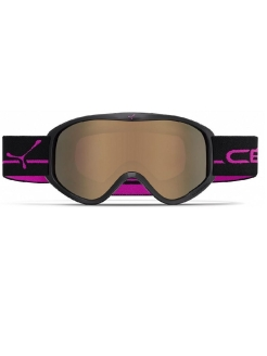 Горнолыжная Маска Striker M Mat Black Pink / Dark Rose Flash Gold Cat.3 Cebe