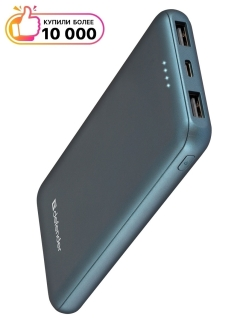 External battery, ExtraLife 10000F, for smartphones, for tablets, Li-pol, 10,000 mAh Defender