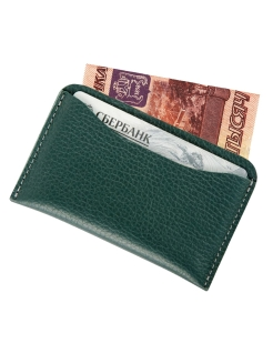 Cardholder for 5 cards, Card holder. Made in Russia. Lampone