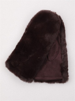 Mittens, fur rim, insulated, Velor A&S