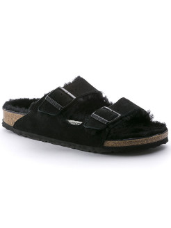 Биркенштоки Arizona Fell VL Schwarz Narrow BIRKENSTOCK