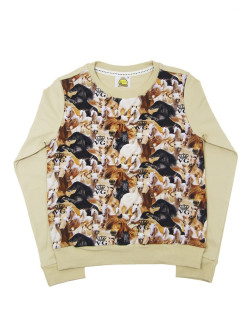 Sweatshirt (sweater) for children for boys and girls with a picture of a horse VAGR-RG