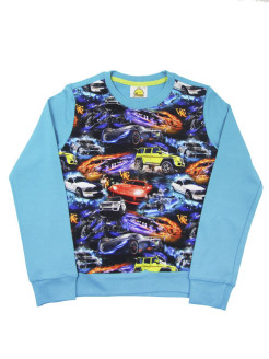 Sweatshirt (sweater) for children with a drawing of a car VAGR-RG