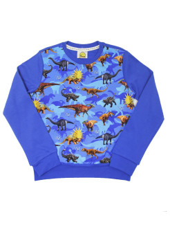 Sweatshirt (sweater) for children for a boy and a girl with a drawing of dinosaurs VAGR-RG