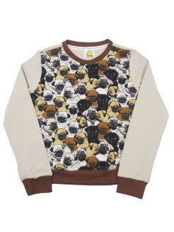 Sweatshirt (sweater) for children for a boy and a girl with a picture of a dog VAGR-RG