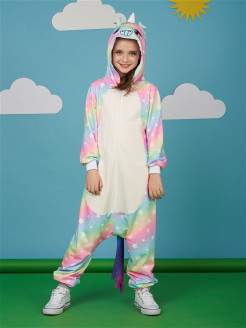Kigurumi / Pajamas Jumpsuit Rainbow / Star Unicorn / Pony Smuizy